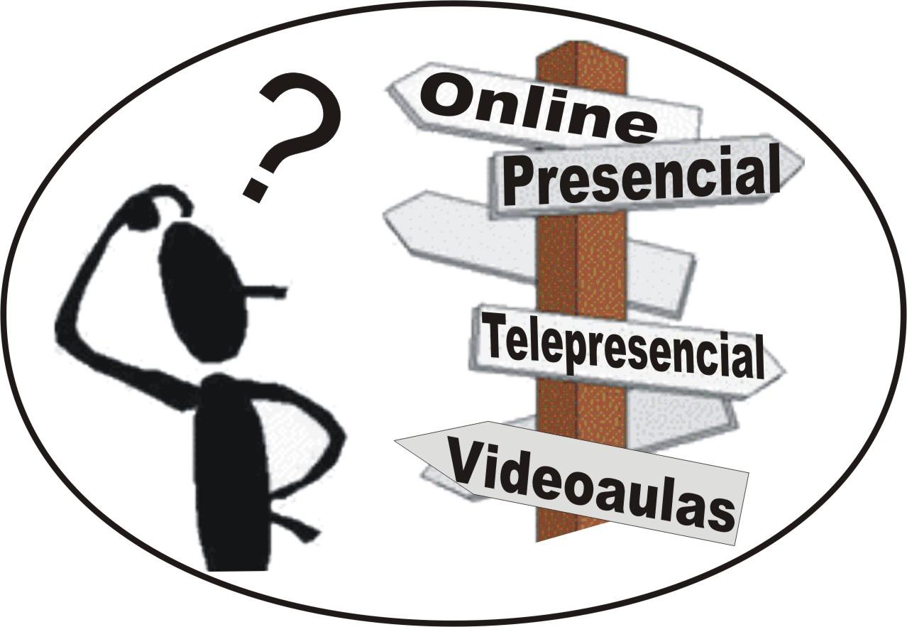 cursos online e cursos presenciais